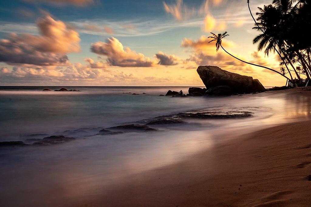 Wijaya beach Unawatuna Sri Lanka